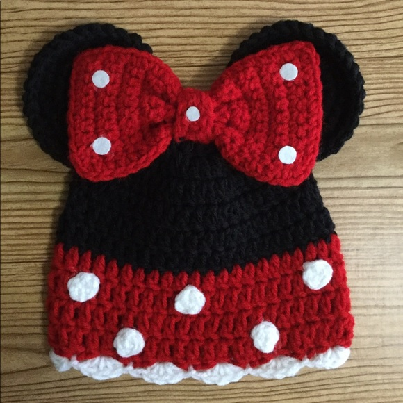Handmade By Kb Accessories Minnie Mouse Crochet Hat 612 Months